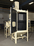 Cell Machine - Tall Part Peening System door open