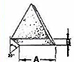 Ceramic 22 Degree Angle Cut Triangles - 2
